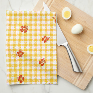 Gingham and Roses 4 Kitchen Towels