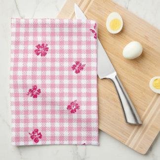 Gingham and Roses Tea Towel