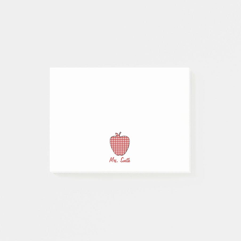 Apple Teacher Post It Notes