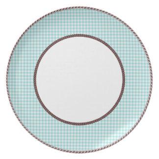 Gingham-Aqua-Retro-Brown-Rope-Detailing(c) Plate