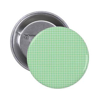 Gingham Background 6 Cm Round Badge
