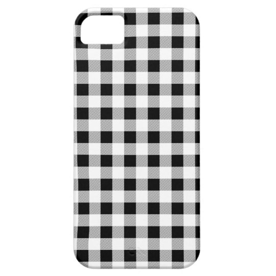 Gingham Black and White Barely There iPhone 5 Case