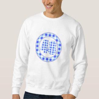 gingham check 48 circular pull over sweatshirts