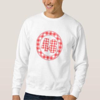 gingham check 48 circular RED Sweatshirt