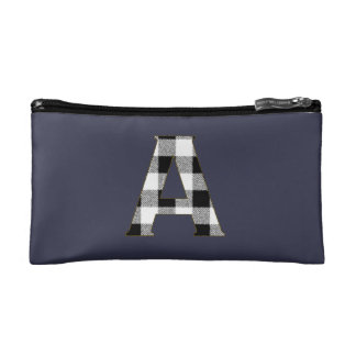 Gingham Check A Cosmetic Bags