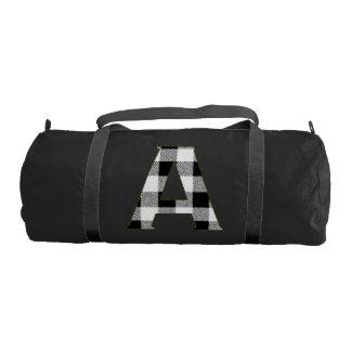 Gingham Check A Gym Duffel Bag
