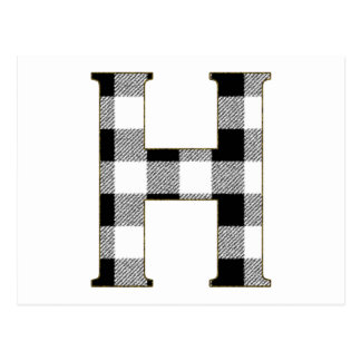 Gingham Check H Postcard