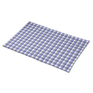 Gingham check pattern. Blue, Gray, White. Placemat