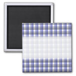 Gingham check pattern. Blue, Grey, White.