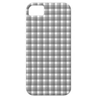 Gingham check pattern. Gray and White. iPhone 5 Cover