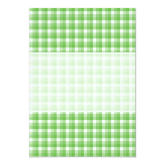 Gingham check pattern. Green and White. Card