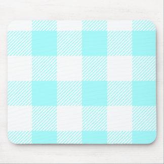 Gingham Check Pattern (light blue) Mouse Mat