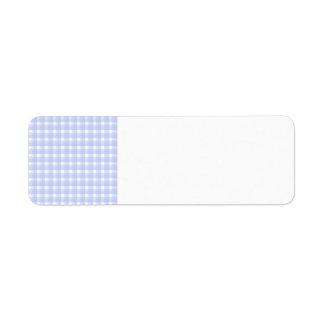 Gingham check pattern. Light Blue & White.
