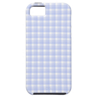 Gingham check pattern. Light Blue & White. iPhone 5 Case