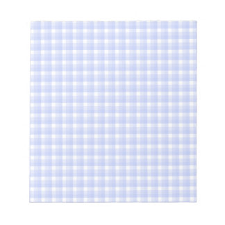 Gingham check pattern. Light Blue & White. Notepad