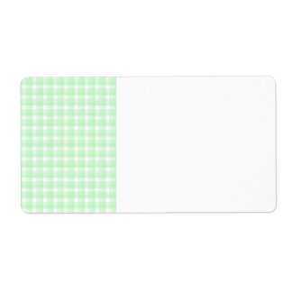 Gingham check pattern. Light Green and White.