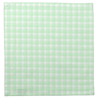 Gingham check pattern. Light Green and White. Napkin