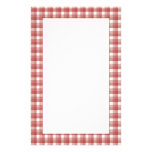 Gingham check pattern. Red and White.