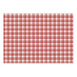Gingham check pattern. Red and White. Pack Of Chubby Business Cards
