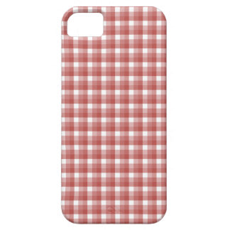 Gingham check pattern. Red and White. iPhone 5 Cover