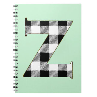 Gingham Check Z Notebook
