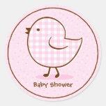Gingham Chick Sticker