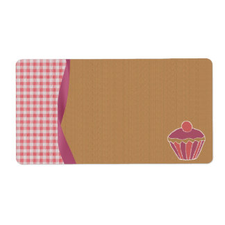 Gingham Cupcake Labels