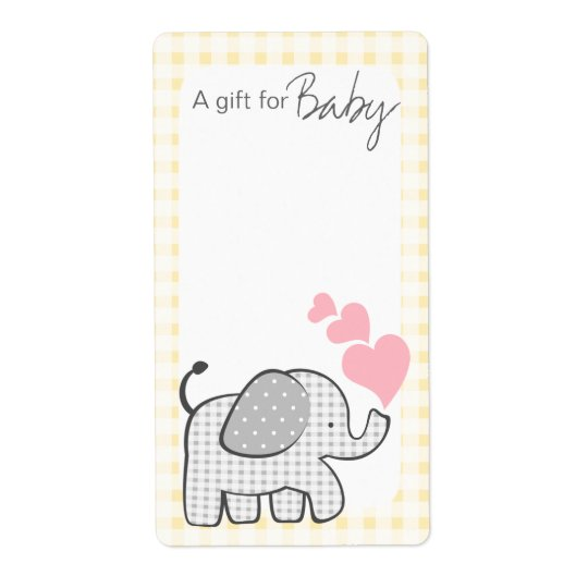 Gingham Elephant Book Tags
