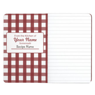Gingham Food  Label Journal