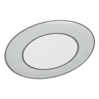 Gingham-Gray-Vintage-Dark-Gray-Rope-Detailing(c) Plate