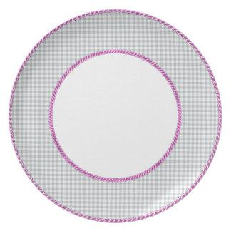 Gingham-Gray-Vintage-Pink-Rope-Detailing(c) Plate