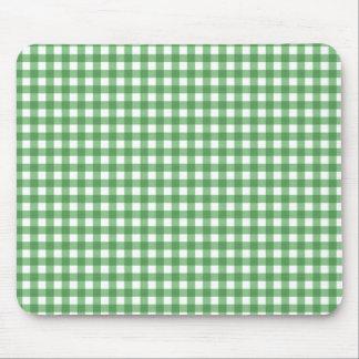 Gingham Green Mousepad
