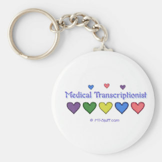 Gingham Hearts MT Key Ring