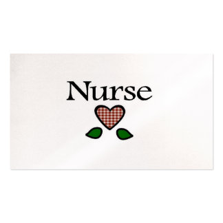 Gingham Hts Red Nurse Pack Of Standard Business Cards