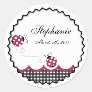 Gingham Ladybug Sticker