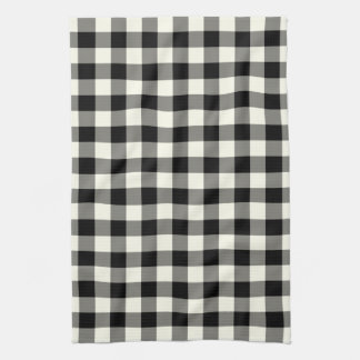 Gingham Pattern Kitchen Towel in Black and White
