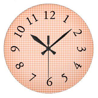 Gingham_Peach-Sangria_ Clocks