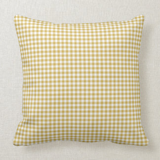 Gingham Pillow in Bamboo Yellow