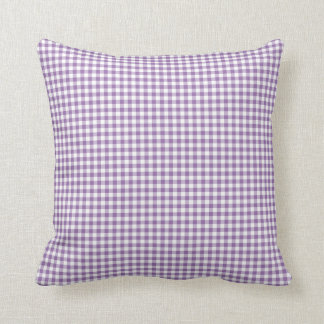 Gingham Pillow in Bellflower Purple Cushions