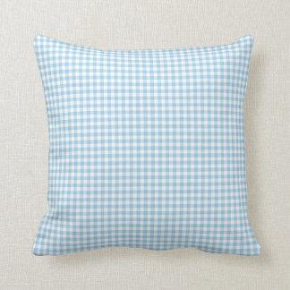 Gingham Pillow in Cornflower Blue Throw Cushions