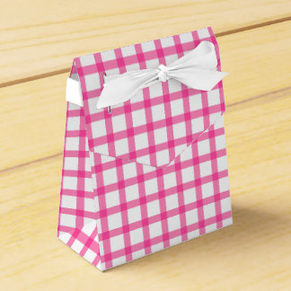 Gingham Plaid Favour Box