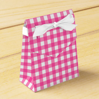 Gingham Plaid Favour Boxes