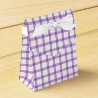 Gingham Plaid Party Favour Box