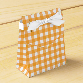 Gingham Plaid Wedding Favour Box