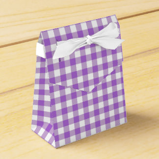 Gingham Plaid Wedding Favour Boxes