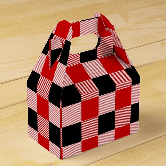 Gingham Red And Black Checks Plaid Party Wedding