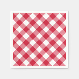 Gingham (Red) Disposable Napkin