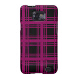 Gingham (Red-Violet) Galaxy Case Galaxy S2 Cases