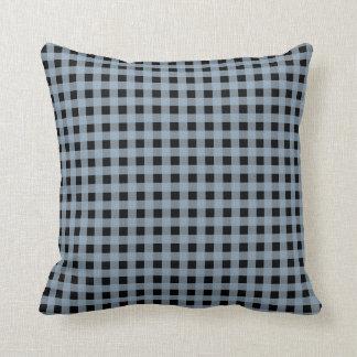 Gingham Slate and Black Cushion