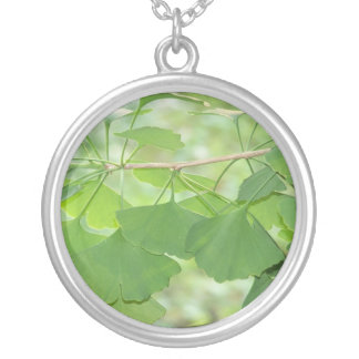 gingko forever silver plated necklace